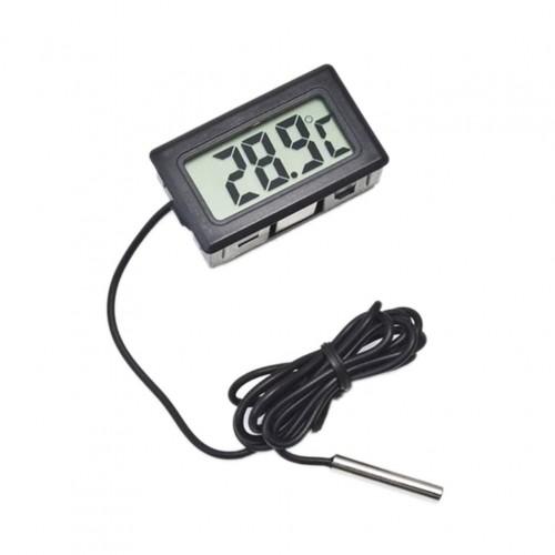 TERMOMETR PANELOWY TABLICOWY LCD Z SONDĄ DO 110C